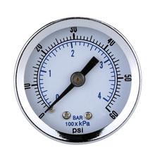 "1/8"" NPT Mini Pressure Gauge Air Compressor Hydraulic Vacuum Gauge Manometer Pressure Tester 0-60 PSI Back Mount 1.5"" Dial Plate(China (Mainland))"