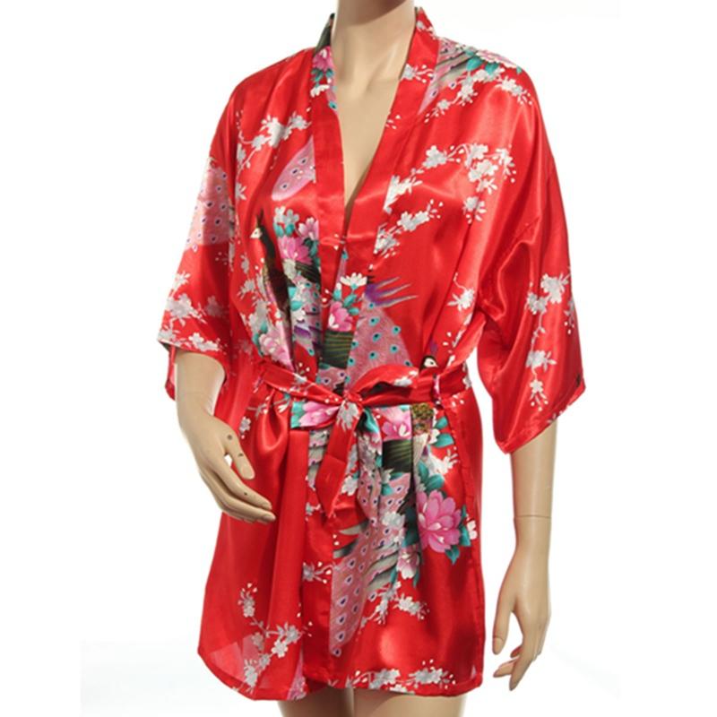 2015 женщин халат пижамы японской кимоно юката сатин старинные халат ночная рубашка сексуальное белье пижамы sml xl xxl