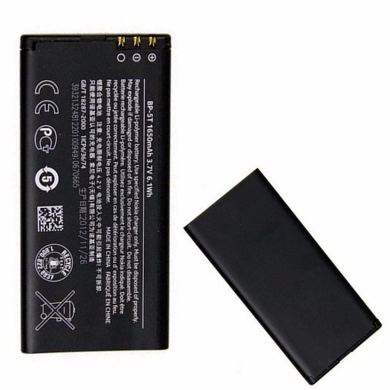 Rechargeable BP-5T 1650mAh Li-ion Battery For Nokia Lumia 820 820T Arrow 825 BP 5T BP5T Original High Capacity Phone Batteries(China (Mainland))