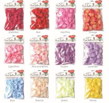 Free Shipping, 50bags party supplies wedding rose petals artificial petals 144pcs/bag 12 colors  wholesale 7116