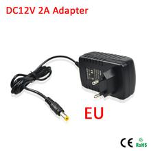 1 unids interruptor de la luz adaptador transformador cargador de alimentación 110 V 220 V a DC 12 V 2A tira llevada RGB 5050 3528 del cordón de la ue enchufe(China (Mainland))
