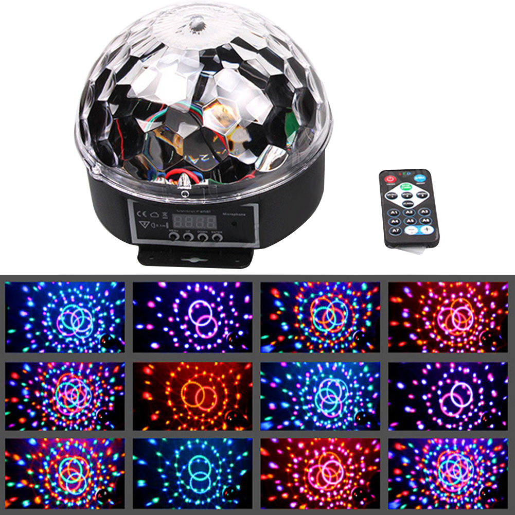 DMX512 RGB LED Stage Lighting Crystal Magic Diamond Ball Laser Light Disco DJ party DMX Stage Light With Remote Control(China (Mainland))