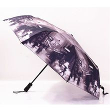Vintage Old Photographs Oil Painting Umbrella Automatic Umbrellas 3 Folding Anti-UV Sun/Rain Umbrella Durable Large Big Parasol(China (Mainland))