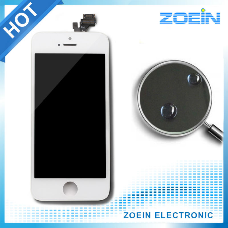 Hot Sale Grade AAA Quality Screen Replacement Digitizer LCD For iPhone 5 Display With Touch Screen Assembly In Black and White