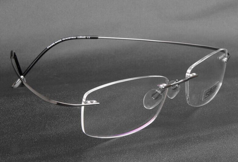 Rimless Glasses No Screws : Aliexpress.com : Buy Brand Titanium Rimless Optical ...