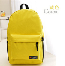 HOT! New Wholesale Campus 17 Colors Backpack High Quality School Backpacks Less Is More School Bags For Teenagers(China (Mainland))