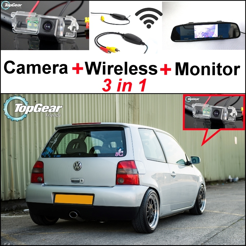 3 in1 Special Rear View Camera + Wireless Receiver + Mirror Monitor Easy DIY Parking System For Volkswagen VW Lupo <br><br>Aliexpress