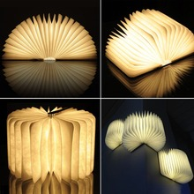 Excelvan BK01 Wooden Folding LED Nightlight Booklight & LED Folding Book Lamp for Desk/Table/Wall(China (Mainland))