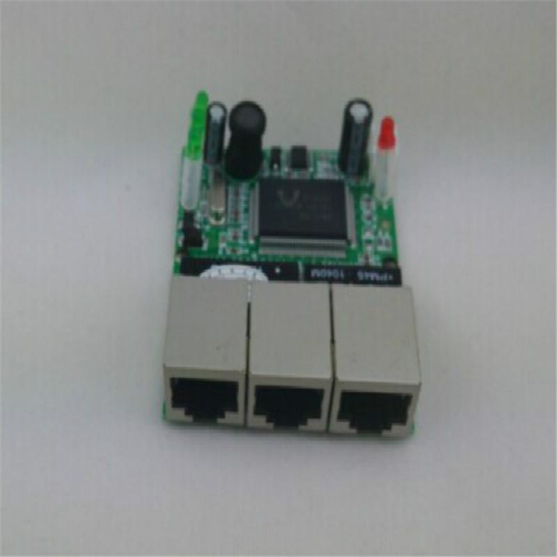 Mini 3 port ethernet switch 10 100mbps rj45 network switch hub pcb module board for - Mini switch ethernet 3 ports ...