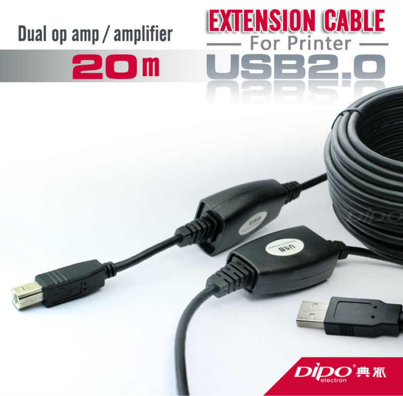 DIPO 20m 65.6FT USB 2.0 printer cable or scanner cable high speed with signal power amplifier<br><br>Aliexpress