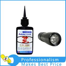 50ml Kafute K-303 UV Glue + 9LED UV Flashlight UV Curing Adhesive Acrylic Transparent Plastic Acrylic Adhesive(China (Mainland))
