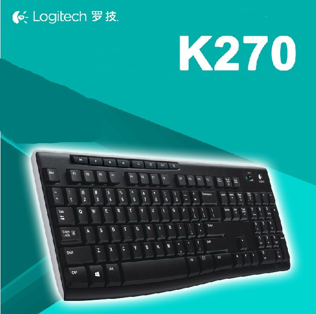 Free shipping Logitech K270 Wireless Keyboard with Durable UV-coated Keys slim Keyboard computer keyboard(China (Mainland))