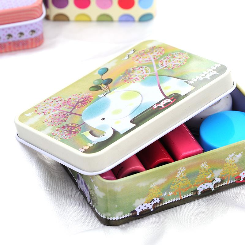 Organizador Special Offer Modern Storage Box 2015 New Arrival Korea Fashion Cosmetics Storage Metal Box Organizer Tin Peninsula(China (Mainland))
