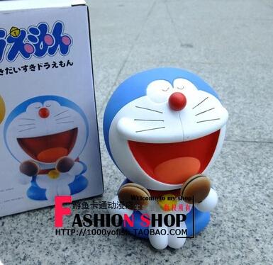 13cm Doraemon dorayaki cat robot Anime PVC action figures Japanese cartoon models birthday gift free shipping(China (Mainland))