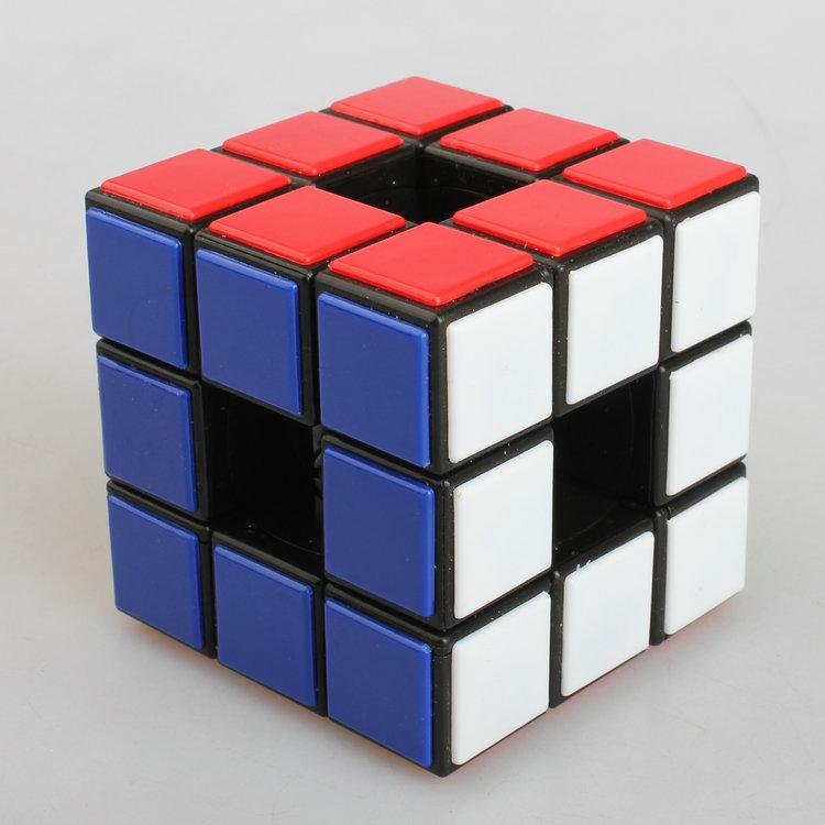 New Lanlan Void 3x3x3 Empty Hollow Black Magic Cube Twist Odd Shape Puzzle Toy(China (Mainland))