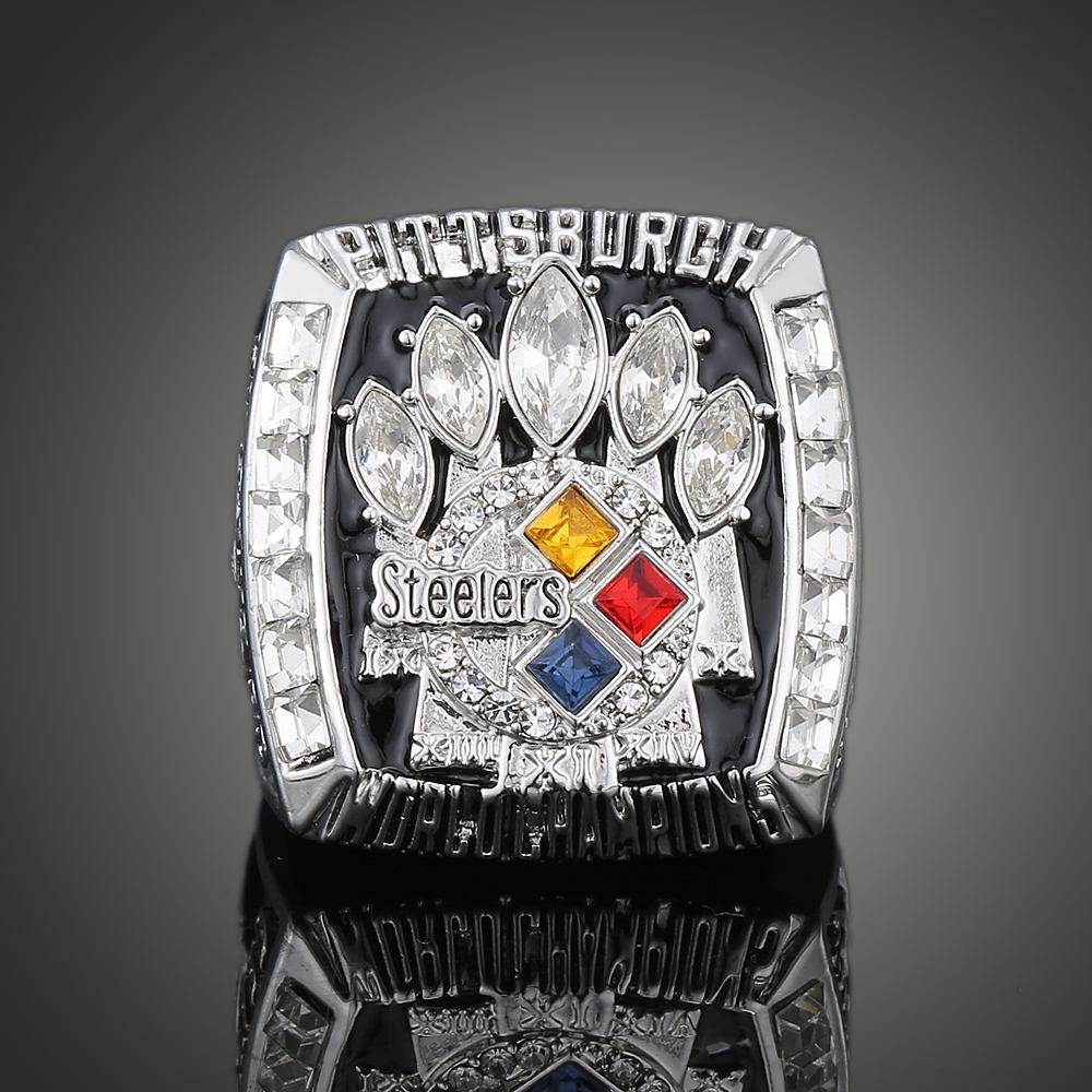 2005 Super Bowl XL Pittsburgh Steelers Championship Ring Men Jewelry American Football Game Replica Champion Ring For Fan J02128(China (Mainland))