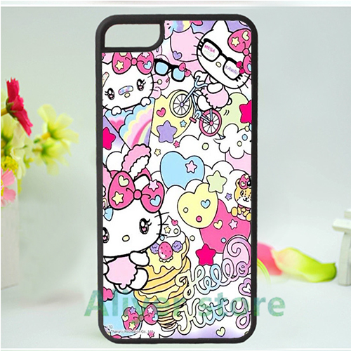 hello kitty sanrio 1 mobile phone case cover for iphone 4 4s 5 5s 5c SE 6 6s & 6 plus 6s plus *ac88(China (Mainland))