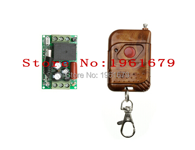 RF Wireless Remote Control AC 220 V 1 CH 50*30*18mm 1 transmitter & 1 Receiver Learning code(China (Mainland))