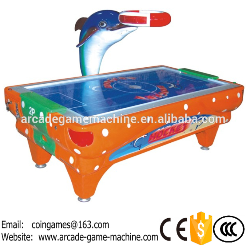 2016 The Newest Amusement Equipment Arcade Indoor Coin Operated Lottery Redemption Dolphin Air Hockey Table Game Machines<br><br>Aliexpress