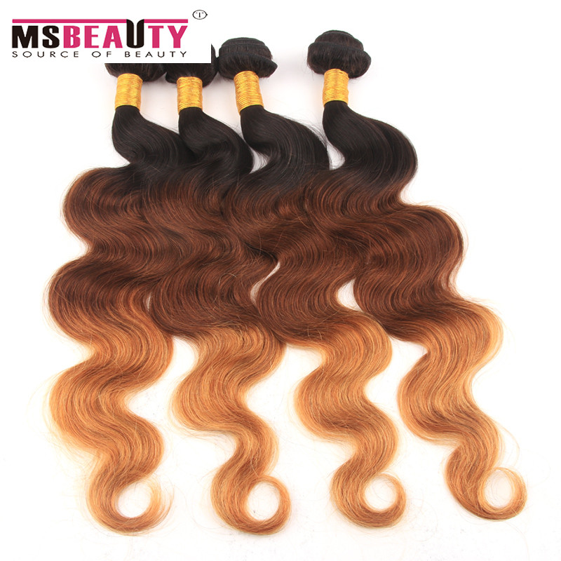 Ombre Three Tone Hair Weave Peruvian Body Wave 4 Bundle Deals Ombre Human Hair Cheap Peruvian Virgin Hair Body Wave 8-28Inch  <br><br>Aliexpress