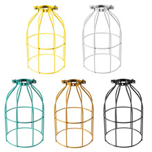 Best Promotion Vintage Steel Bulb Guard Clamp On Metal Lamp Cage Retro Trouble Light Industrial(China (Mainland))