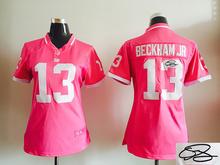Signature WOMEN PINK Love New York Giants ladies 10 Eli Manning 13 Odell Beckham Jr. 80 Victor Cruz Embroidery Logos(China (Mainland))