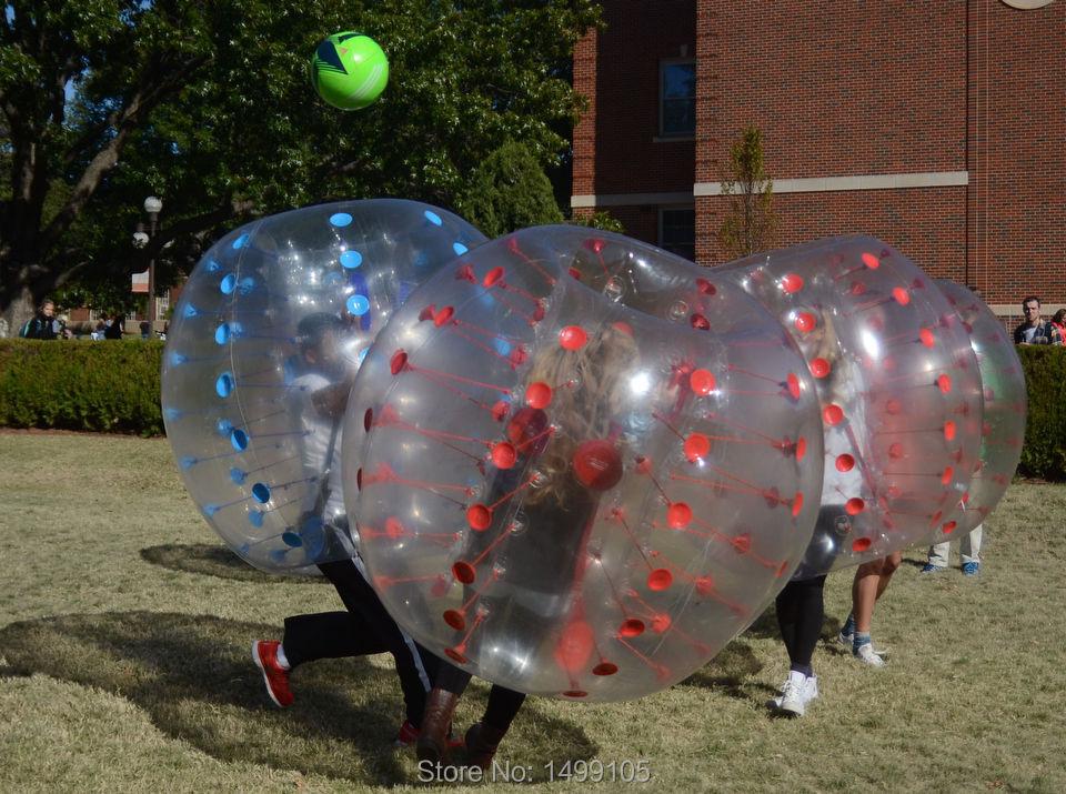 2 pcs red 1.5m human inflatable bumper bubble ball body bubble ball,Soccer Zorb Ball bubble ball for football(China (Mainland))
