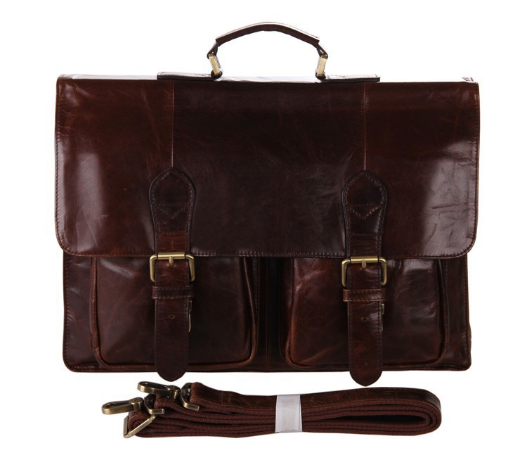 2015 New Arrival Luxury Brand Vintage Genuine Leather Men Business Laptop Handbags Cowhide Briefcases For Men Travel Using Bags(China (Mainland))