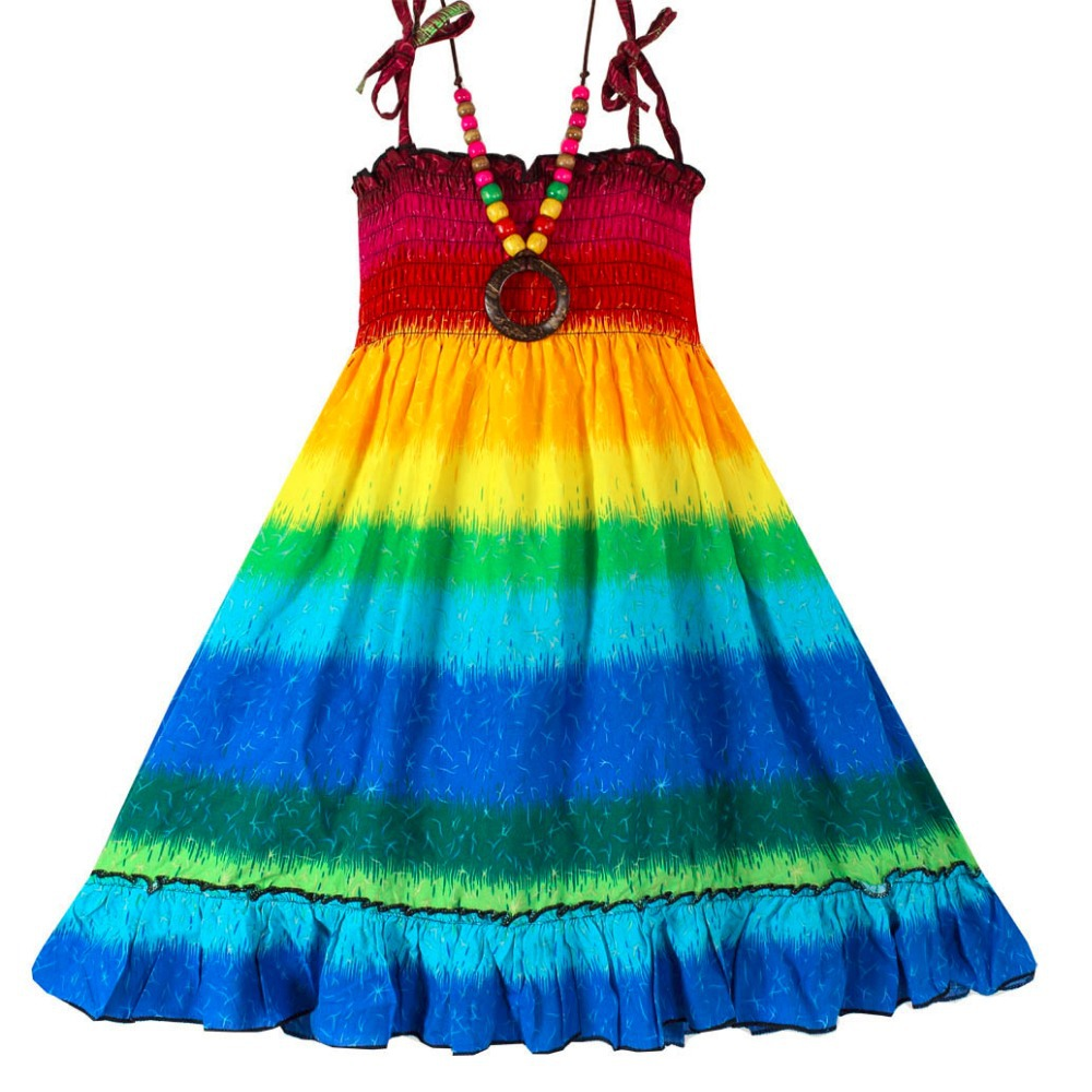 2015 new dress necklace rainbow bohemia
