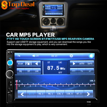 New 7010B 7'' HD Bluetooth Touch Screen 2 DINs Car Audio Stereo Radio FM MP5 MP3 USB AUX-IN Player With 420 TV Lines Camera  (China (Mainland))