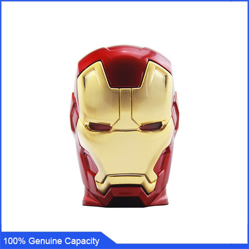 100% Genuine USB Flash Drive metal Iron man head shaped memory stick pen drive 2GB 4GB 8GB 16GB 32GB pendrive Free shipping(China (Mainland))