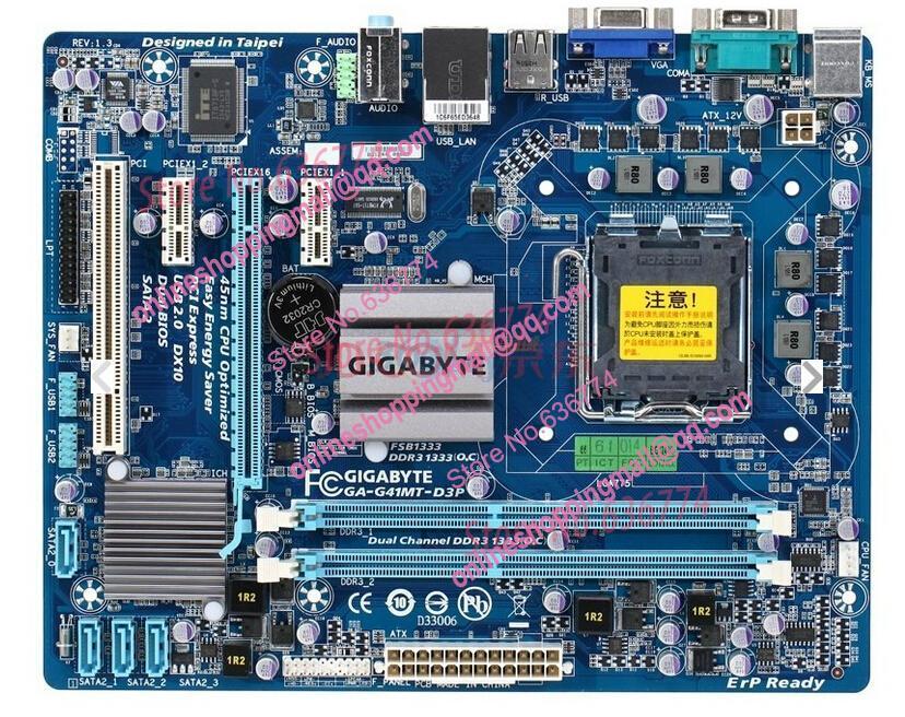 Gigabyte ga-g41mt-s2pt rev11 (rtl) lga775 g41 pci-e+svga+gblan sata microatx 2ddr-iii