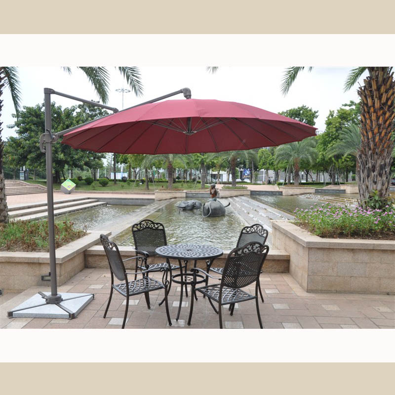 Outdoor patio umbrella booth Rome round villa sales offices cafes rotatable Limited Time Offer<br><br>Aliexpress