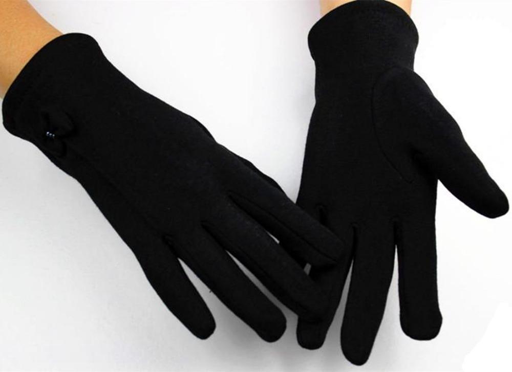 В 100% хлопок женщины не падают вниз очков палец трикотаж перчатки на открытом воздухе утепление выход скидки