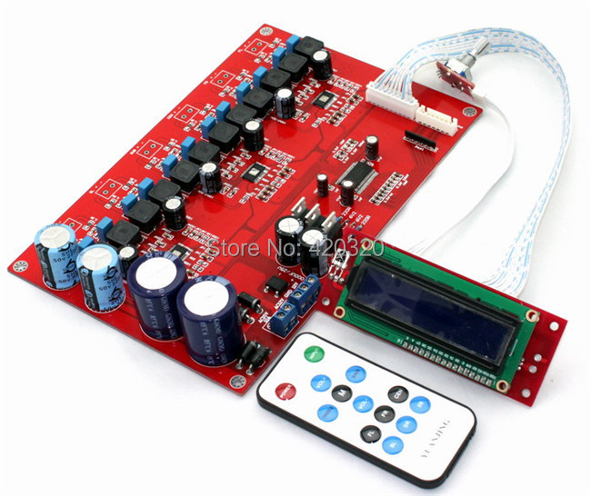 TPA3116 amplifier board 15VAC 6.0 channel M62446 6*50W remote control LCD - Best Partner Mall store