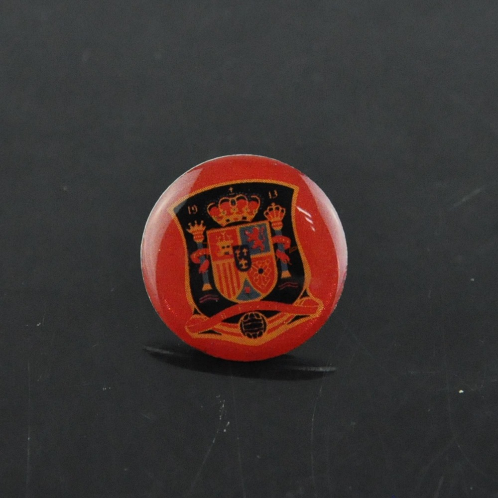 soccer football buttons pins red bottom spain round brooch. Black Bedroom Furniture Sets. Home Design Ideas