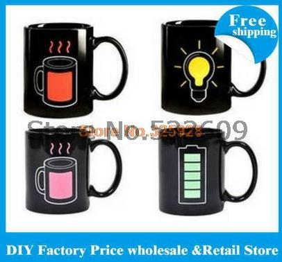96pcs/lots free shipping Animated Battery Coffee Mug ( Battery Color Changing Mug) free shipping(China (Mainland))
