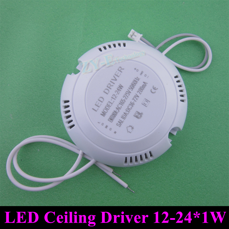5pc 8-25*1W 280mA LED Outside Transformer  LED Driver Ceiling Light External Driver For 8W 12W 15W 18W 24W Ceiling Lamp FreeShip<br><br>Aliexpress