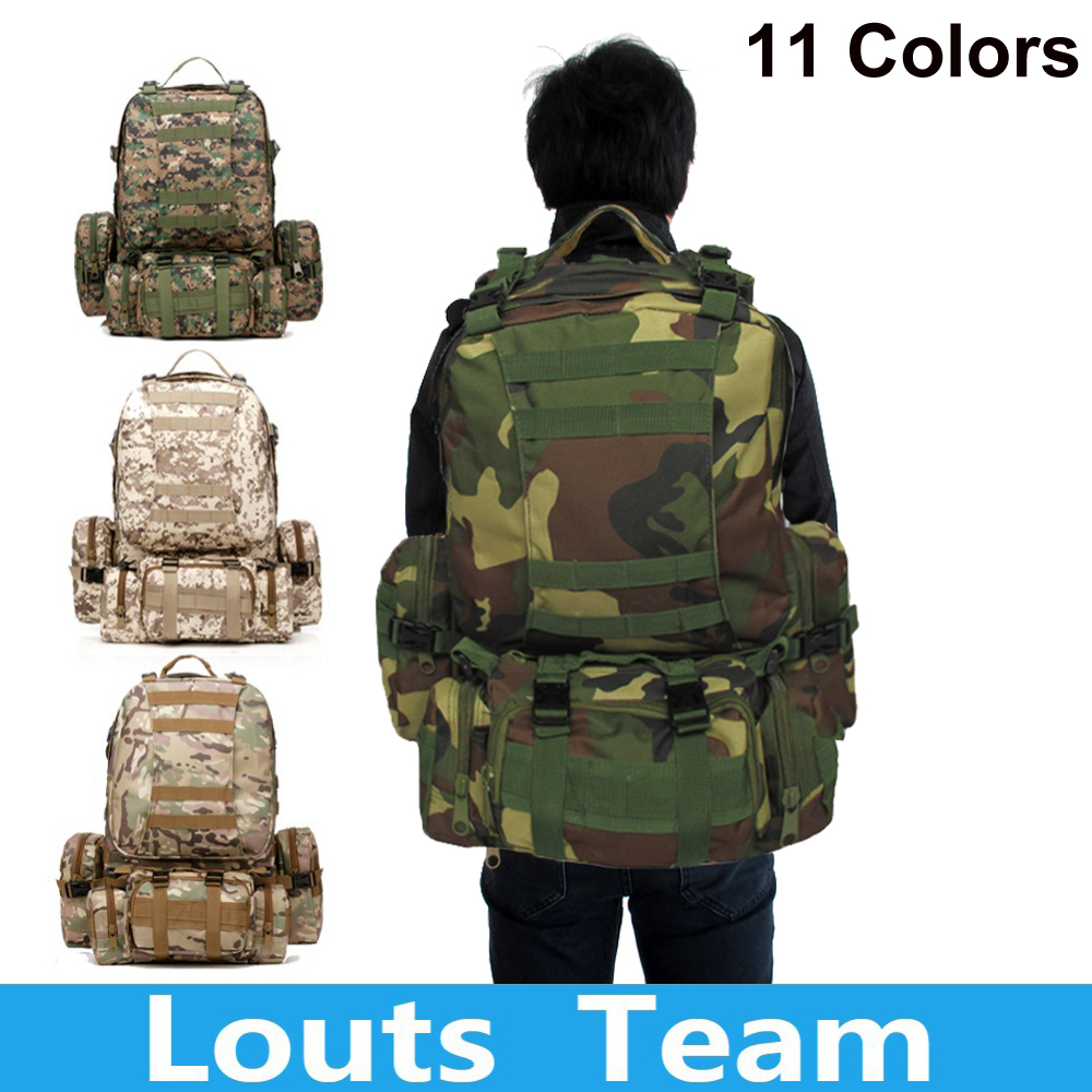 50L Molle Assault Tactical Outdoor Military Rucksa...