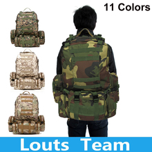50L Molle Assault Tactical Outdoor Military Rucksacks Backpack Camping Pack Hiking Bag Large(China (Mainland))