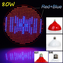 New hydroponics lighting AC85-265V 80W E40 RED/BLUE SMD 800 LEDS Hydroponic LED Plant Grow Lights led bulb LED LIGHT growth lamp