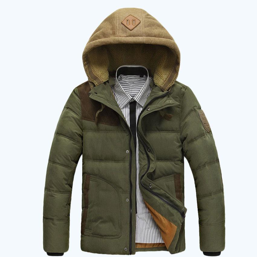 2015 Men's jacket winter men long hooded thick coat warm plus size M-XXXL 6 color 120