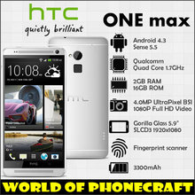 HTC ONE MAX Quad Core smartphones 1.7MHz Full HD 5.9 inch Screen 2G RAM 16G ROM Sense 5.5 max 64G TF Card Support 4G Smartphones