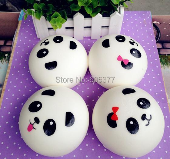 10CM Kawaii Jumbo Panda Couple Squishy Cell Phone Charm/Bag Charm/Phone Straps/Bag Pendant
