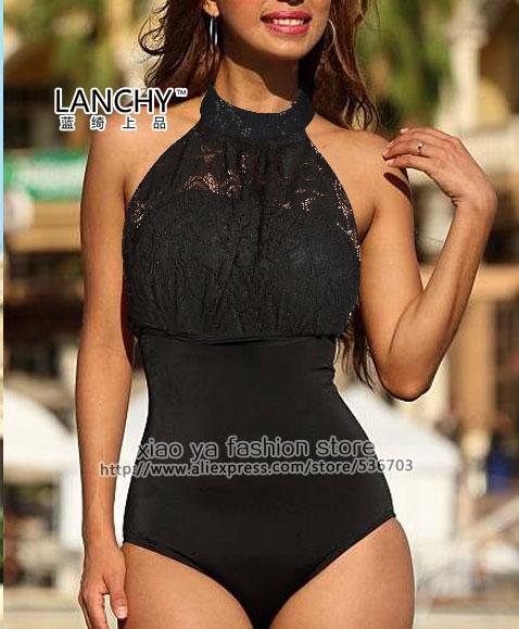 2015 Brand New Lace One Piece Swimsuit Swimwear women monokini plus size swimwear women swim wear bathing suit size S M L XL XXLОдежда и ак�е��уары<br><br><br>Aliexpress