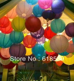 (10pcs/Lot) 8''(20cm)Free Shipping Chinese Paper Lantern Round Wedding Lantern Birthday Party Decorations Kids(China (Mainland))