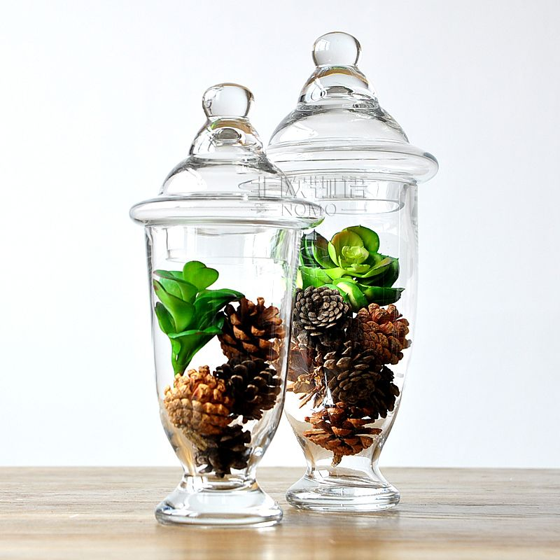Online buy wholesale glass storage jar from china glass for Designer glass jars