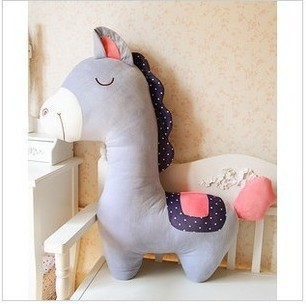 about 100cm horse plush toy birthday gift  throw  pillow cushion  blue , pink, gray or purple colour choosen toy t5543<br><br>Aliexpress