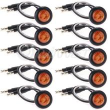 10x Waterproof Amber LED Side Marker Light Lamp for Car Truck Boat DC 12V(China (Mainland))