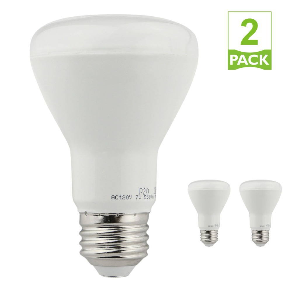 2pcs Dimmable R20 flood light LED Bulbs 7W , Equivalent to 50W Incandescent Bulbs 3000K Warm White , Recessed(China (Mainland))